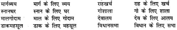 Bihar Board Class 12th Hindi व्याकरण समास 7