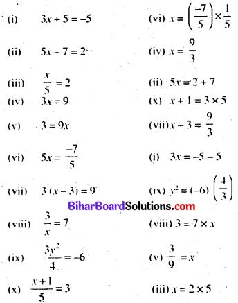 Bihar Board Class 7 Maths Solutions Chapter 11 सरल समीकरण Ex 11.2 Q6