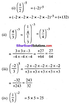 Bihar Board Class 8 Maths Solutions Chapter 10 घातांक और घात Ex 10.1 Q2.1
