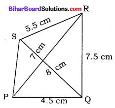 Bihar Board Class 8 Maths Solutions Chapter 7 ज्यामितीय आकृतियों की रचना Ex 7.2 Q3
