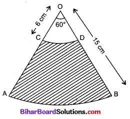 Bihar Board Class 10 Maths Solutions Chapter 12 वृतों से संबंधित क्षेत्रफल Additional Questions LAQ 1