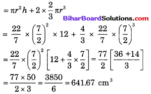 Bihar Board Class 10 Maths Solutions Chapter 13 पृष्ठीय क्षेत्रफल एवं आयतन Additional Questions LAQ 3.1