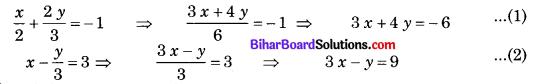 Bihar Board Class 10 Maths Solutions Chapter 3 दो चरों वाले रैखिक समीकरण युग्म Ex 3.4 Q1.1