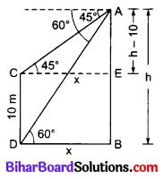 Bihar Board Class 10 Maths Solutions Chapter 9 त्रिकोणमिति के कुछ अनुप्रयोग Additional Questions LAQ 6