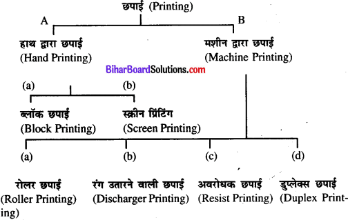 Bihar Board Class 11 Home Science Solutions Chapter 20 वस्त्रों की परिसज्जा