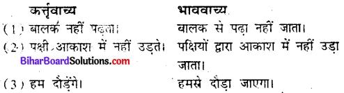 Bihar Board Class 9 Hindi व्याकरण वाच्य परिवर्तन- 3