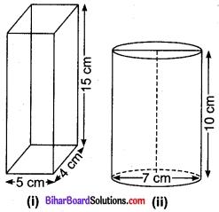 Bihar Board Class 9 Maths Solutions Chapter 13 पृष्ठीय क्षेत्रफल एवं आयतन Ex 13.6