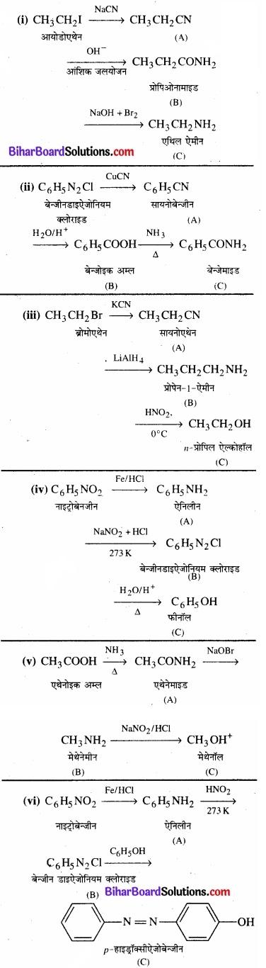 BIhar Board Class 12 Chemistry Chapter 13 ऐमीन img-36
