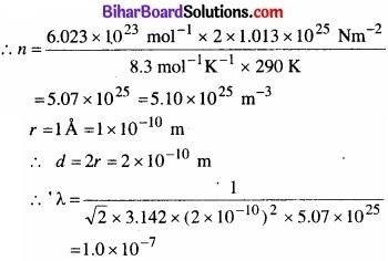 Bihar Board Class 11 Physics Chapter 13 अणुगति सिद्धांत