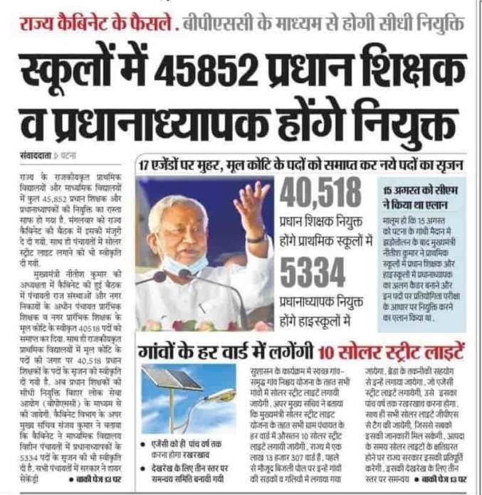 Bihar Teachar Vacancy 2021