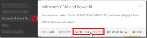 Dynamics CRM and Power BI 8