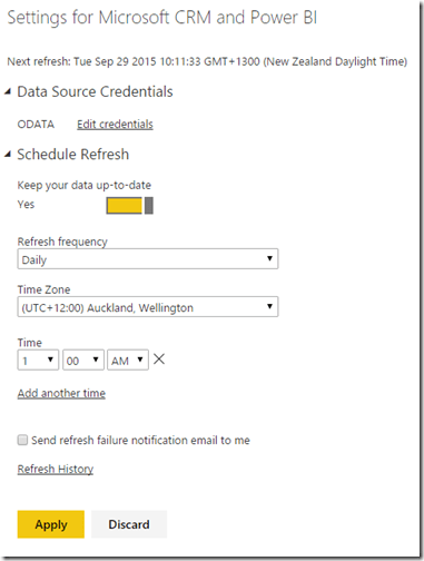 Dynamics CRM and Power BI 10