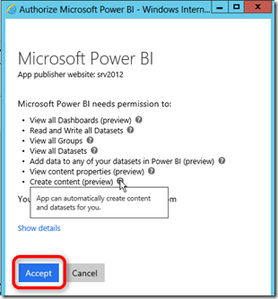 Authorize Power BI App