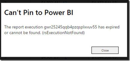 Error rsExecutionNotFound