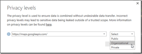 Power BI Privacy Levels