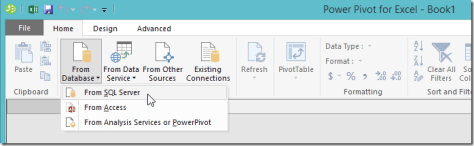 Excel 2016 Power Pivot Get Data