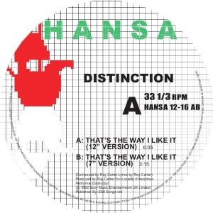 Distinction - That's The Way I Like It - HANSA1216AB - HANSA