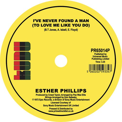 esther phillips - Home Is Where The Hatred Is/ I've Never Found a Man - PR65014P - kudu