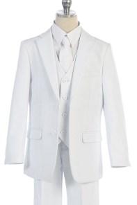 communion white suit five piece set for boys