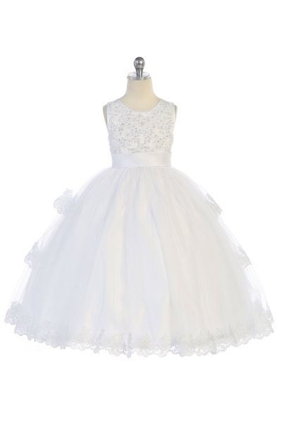 mayoreo vestido blanco para primera comunion