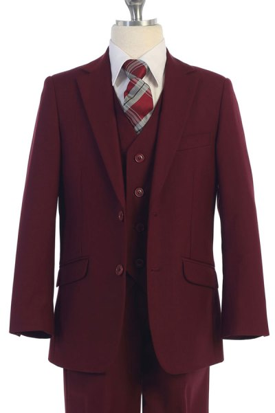 Bj4005-Burgundy-Suit