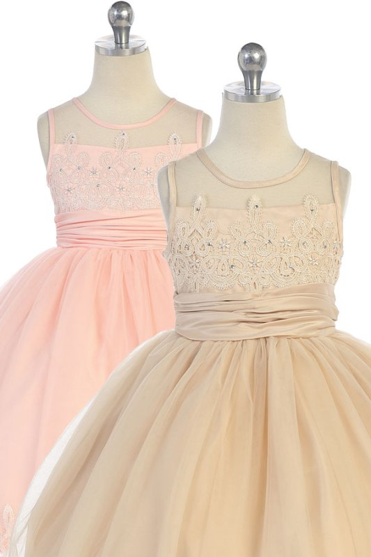 Wholesale girls dress tea length resale solo mayoreo vestido de niñas