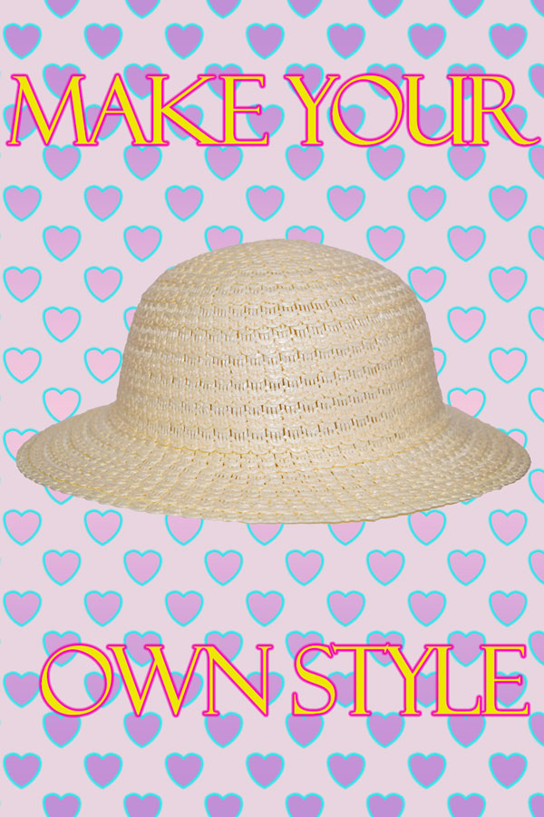 Artificial Girls Straw hat Mayoreo sombrero de niñas por dozena
