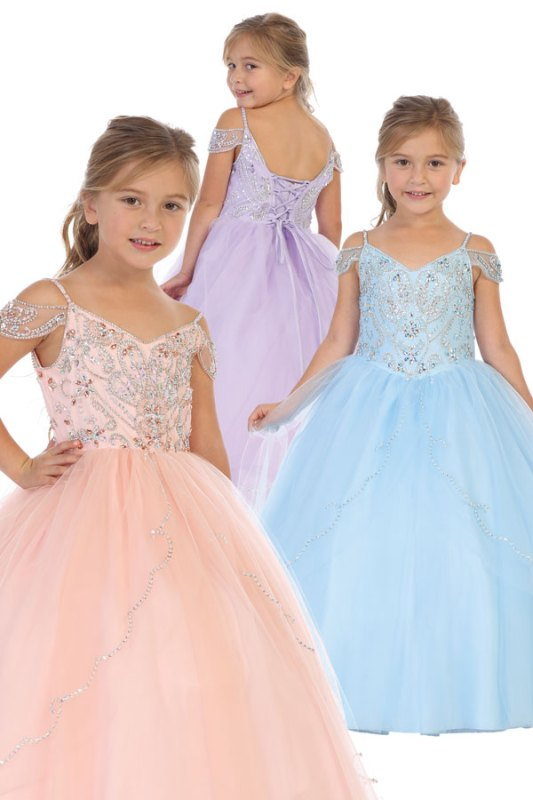 8042 wholesale ballgown for girls