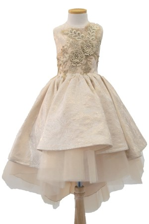 wholesale bijan kids gold dress high low