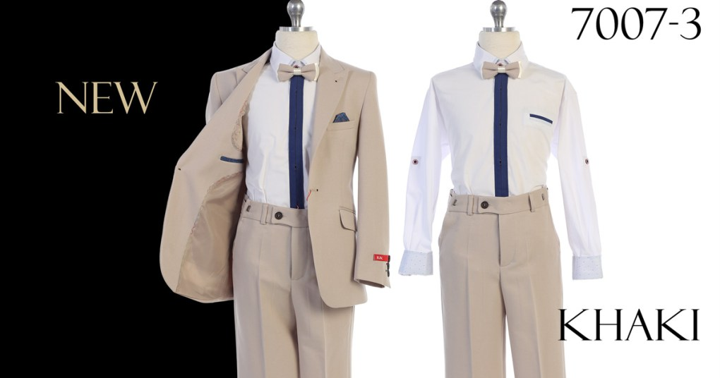 khaki suit for boys wholesale only