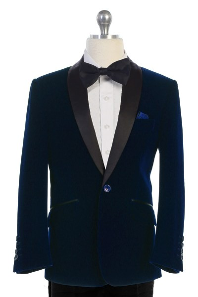 bijan kids 8088 indigo velvet suit