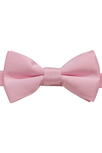 Wholesale satin bowtie for boys in pink