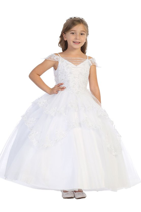 Wholesale Los Angeles girls clothing with multiple layers and sequins