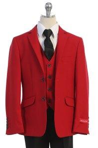 Wholesale boys suit in red Bijan KIds los angeles