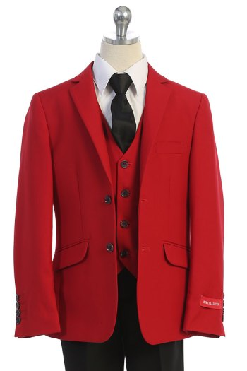 Wholesale boys suit in red Bijan KIds los angeles