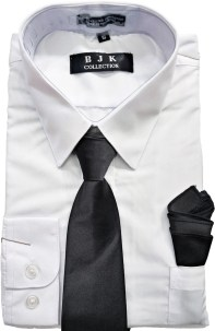Wholesale white dress shirt for boys