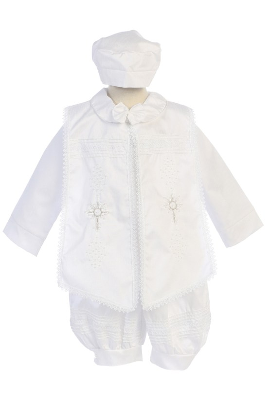Baptism gowns for boys in white
