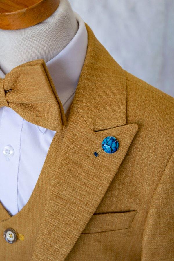 Boys designer Mustard yellow suit 4 piece set