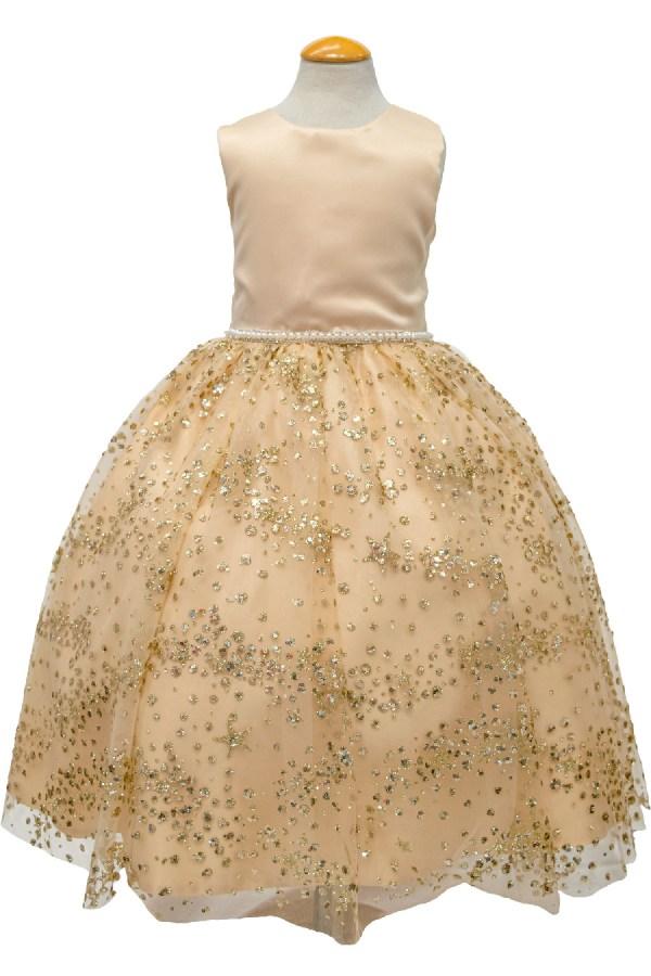Girls gold sequins dress