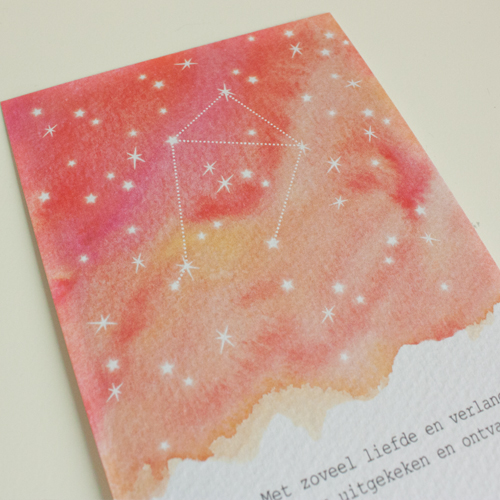 geboortekaartje Stella sterrenbeeld detail