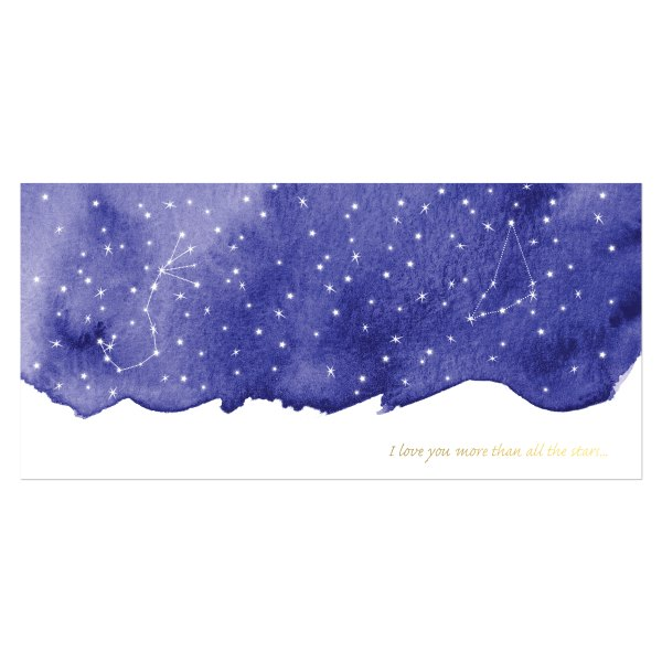 trouwkaart sterrenhemel voorkant