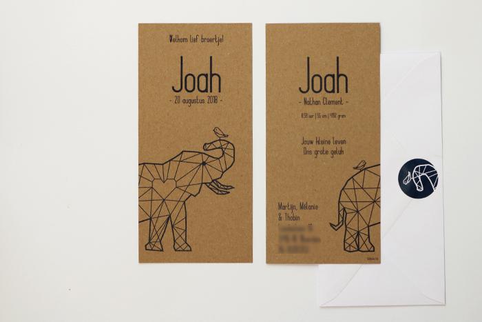 Geboortekaartje op maat voor Joah totaal
