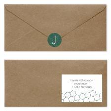 geboortekaartje groen | goud envelop