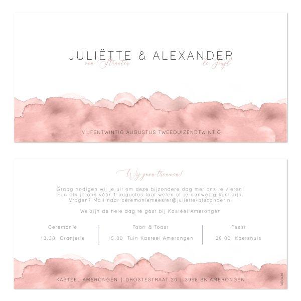 bijzondere trouwkaart nude watercolor vk en ak