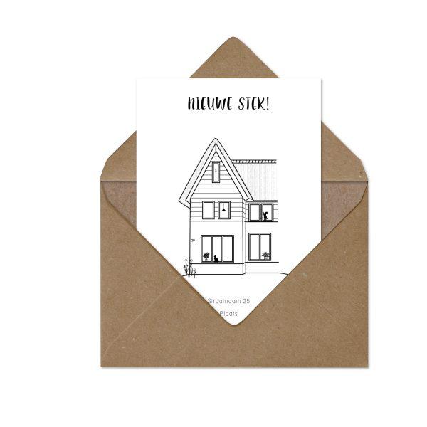 nieuw thuiskaart   verhuiskaart in envelop