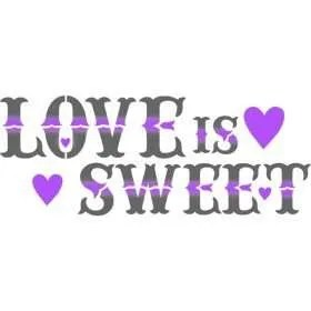 stencil love is sweet