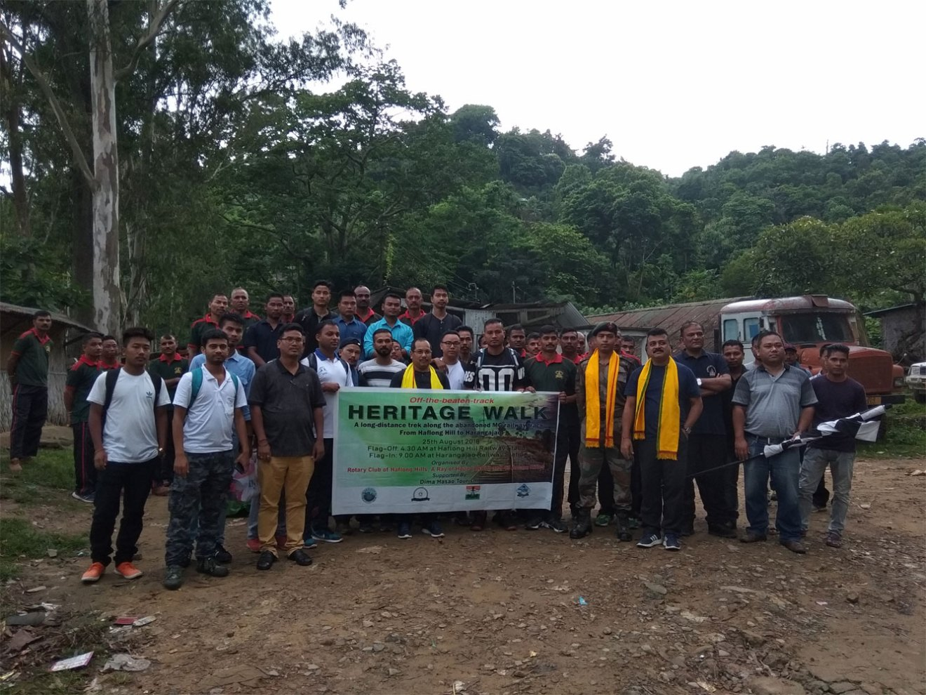 Heritage walk at Dima Hasao- Flagged Off in Haflong Hill Railway Station