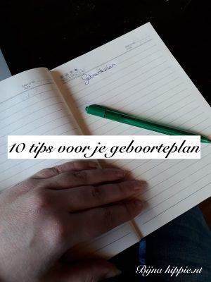 10 tips voor je geboorteplan