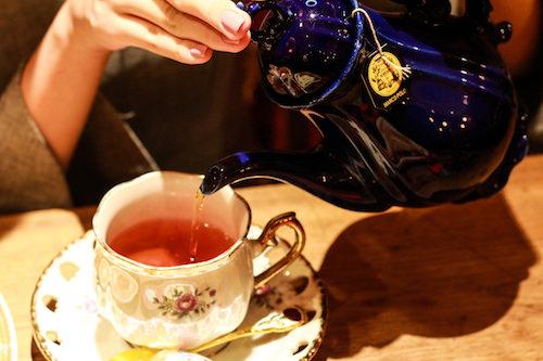 ドリンク付きのメニューで紅茶、コーヒーまたはシードルから選べます