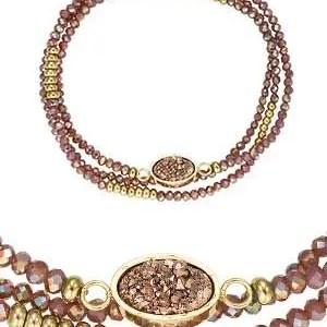 Bracelets acier, acier doré